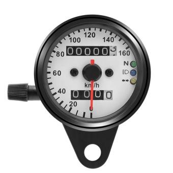 1pc Universal Motorcycle Odometer Speedometer Gauge Dual Digital Display KM/H - intl - 2