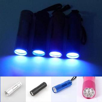 1Pcs 12-LED UV Blacklight Torch Pet Urine Stain Detectorcolor:Silver - intl
