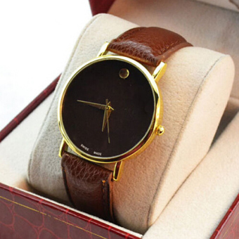 1pcs Vintage Golden Women Ladies Luxury Simple Fine Dial Quartz Wrist Watch A3