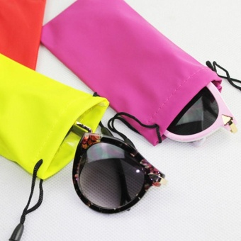 1piece Microfiber Phone Sunglasses Eyeglasses Pouch Protector BagSoft Cleaning Case New ,color send randomly - intl