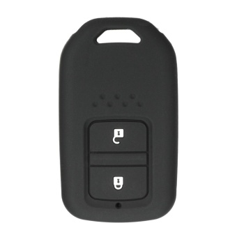 2 BUTTON SMART SILICONE KEY COVER FOB SKIN FIT FOR HONDA JADE VEZEL HRV CRIDER (Black) - intl