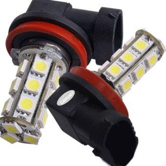 2 H11 18 SMD LED White Car Fog Head Light Lamp Bulb 12V - picture 2