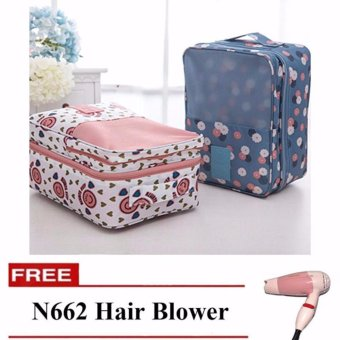 2 Layer Shoe Organizer Set of 2 (Design May Vary) with Free N-662Hair Dryer