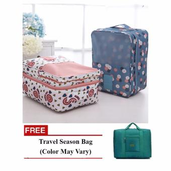 2 Layer Shoe Organizer Set of 2 (Design May Vary) with Free TravelSeason Bag (Color May Vary) Price Philippines