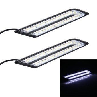 2 PCS 6W 33 LED DRL Daytime Running Lights Lamp, DC 12V(WhiteLight) - intl