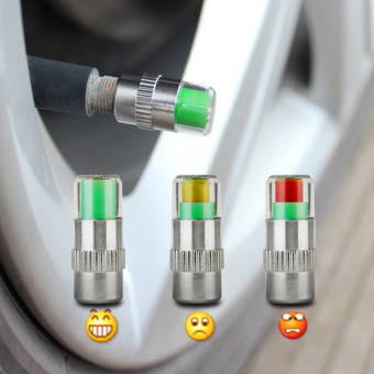 2 PCS Car Auto Tire Pressure Monitor Valve Stem Caps SensorIndicator - Intl