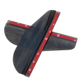 2 Pcs Car Truck SUV Rear Mirror Rain Board Eyebrow Visor RainShield Water Guard (Black) - intl - 3