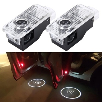 2 PCS LED Car Door Welcome Logo Car Brand 3D Shadow Light For Audi- intl Price Philippines
