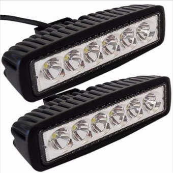 2 PCS New 18W Flood LED Light Work Bar Lamp Driving Fog Offroad SUV 4WD Car Boat Truck