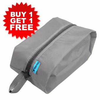 2 pcs. Waterproof Easy to Carry Travel Kit Bag (Grey)