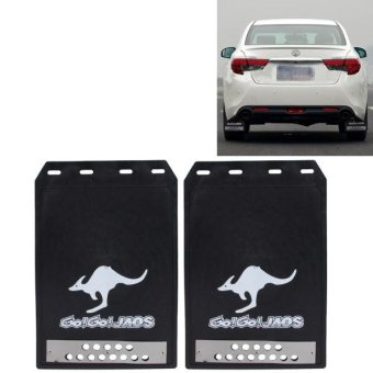 2 PCS WS-003 Premium Heavy Duty Molded Splash Mud Flaps Rear AutoFront And Rear Guards Small Size(Black) - intl