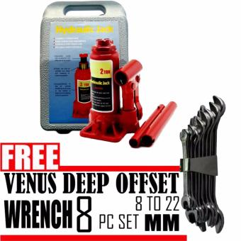 2 Ton Hydraulic Bottle Jack with Plastic Carrying Blown Case (Red)with Free Wrench