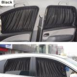 2 x 50s Car Sun Shade Window Curtain Black - intl