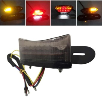 20 LED Brake Tail Turn Signal Light with License Plate Bracket ForMotorcycle - intl