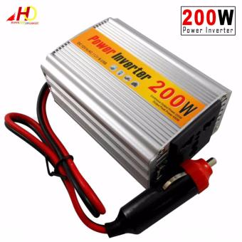 200W DC 12V to AC 220V & USB Car Power Inverter Adapter