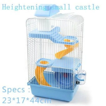 philippines 2016 hot sell pet gaiola multi storey castle hamster cagetravelcarry novice practical cage hamster accessoriesl30w22h43cm intl best - Multi Castle 2016