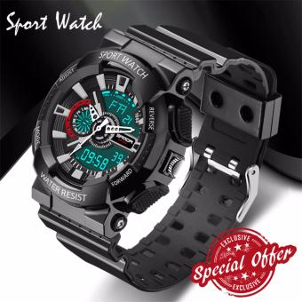 2016 New Watch Men G Style Waterproof Sports Military Watches S Shock Fashion LED Digital Watch Men(black)