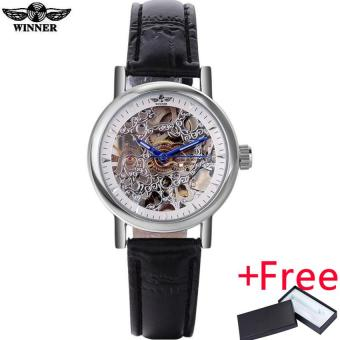 2016 WINNER watches women lady luxury brand skeleton automaticmechanical wristwatches artificial leather band relogio feminino Price Philippines