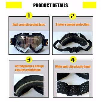 2017 Brand New Men Women Ski Snowboard Eyewear Motorcycle MotocrossRacing Goggles Outdoor Sports Skiing Glasses Mask Sunglasses(Colorfur Lens) - 4