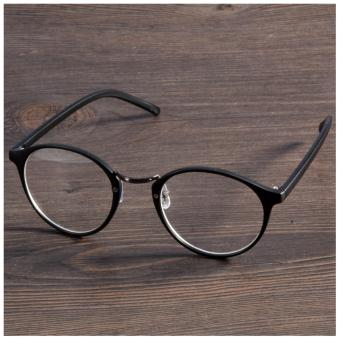2017 Fashion Eyeglasses Frame Optical Reading Eye plain Glasses (Black) - intl