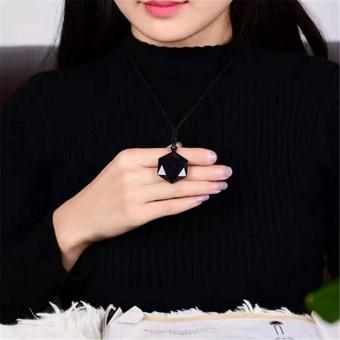 2017 Fashion Universe Spiritual Energy Hexagram Blue SandstonePendant Necklace Grounding Stone Protection Amulet - intl - 4