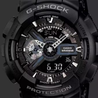 2017 New Casio G-Shock Men's Black Dial Resin Strap Watch -GA-110GB-1A1