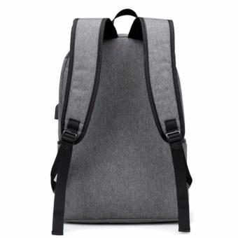 2017 New Design USB 15 Inch External Laptop Backpacks CanvasRucksack Backpacks New Fashion Travel Backpack Boy Girls SchoolBags - intl - 2