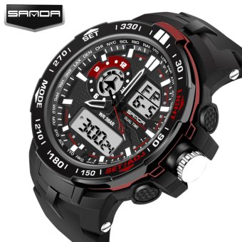 2017 New Fashion Sport Super Cool Men's Quartz Digital Watch Men Sports Watches SANDA Luxury Brand LED Military Waterproof Wristwatches 737 - intl