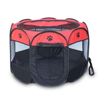 2017 New Portable Folding Pet Tent Play Pen Dog Sleeping Fence Puppy Kennel Folding Exercise Play Foldable Pet Dog House Outdoor - intl