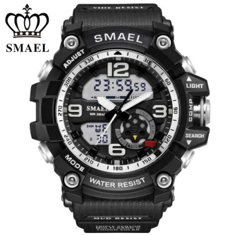 2017 Top Brand SMAEL LED Digital Quartz Watch Men Shock Resistant Style Sport Military wrist watches 1617 - intl