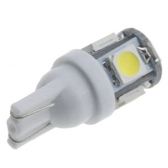 20pcs T10 5050 5SMD LED Car Light Wedge Lamp Super Bright DC12V (White)