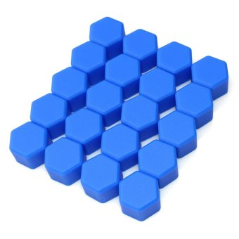 20x Silicone Caps 19mm Car Hex Wheel Nuts Lugs Bolts Screw CoversFor Ford Focus (Blue)(Intl) - intl