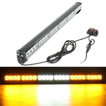 """24 LED White Amber 27"""" Car Emergency Traffic Advisor Flash Strobe Light Bar Warning - intl"""