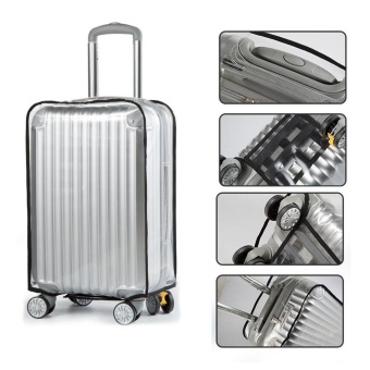 24inch PVC Clear Waterproof Luggage Suitcase Protective Cover Case Rainproof Dustproof - intl