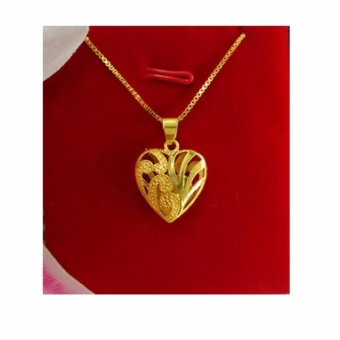 24K Gold Kaara Premium Heart Necklace - Gold - intl