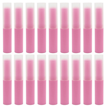 25 PCS 4G Matte DIY Refillable Empty Plastic Lip Balm LipstickStick Tube Bottle Container Pink