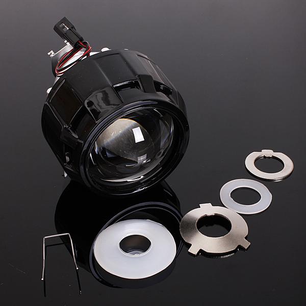 "2.5"" Car Mini Bi-xenon HID Projector Lens Angels Eye Headlight Shroud H1 H4 H7"