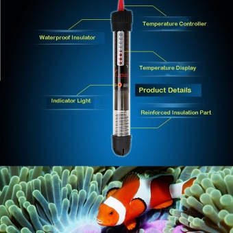25W Pet Product Aquarium Accessories Submersible Heater Heating Rod for Aquarium Glass Fish Tank - intl