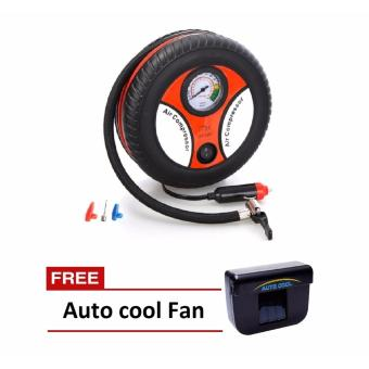 260PSI Auto Car Electric Tire Inflator Pump Air Pressure GaugeCompressor DC 12V with FREE Auto Cool Solar Powered Air CoolerVentilation