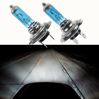 2pc H7 6000K Xenon Gas Halogen Headlight White Light Lamp Bulbs100W 12V - intl