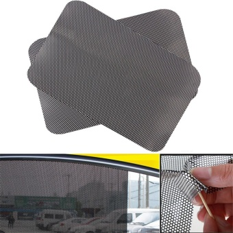2pcs 63 * 42cm PVC Car Auto Accessories Curtain Windshield StickerSun Shade UV Protection Side Window Film - intl