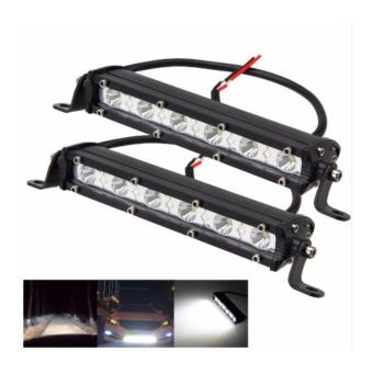 2pcs 7 inch 18W Cree Chips LED Spot Ultra Slim LED Light Bar Work light(WHITE)