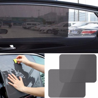 2Pcs Car Rear Window Side Sun Shade Cover Block Static Cling VisorShield Screen - intl