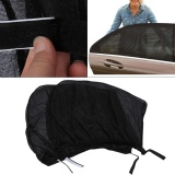 2PCS Car Sun Shade Side Mesh Window Curtain Foldable Visor UV Protection - intl