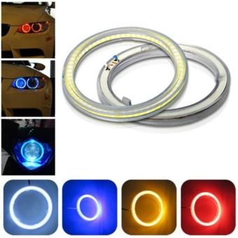 2pcs COB Angel Eye Halo Rings For Fog Lights Retrofit 100mm 12VYellow 72leds Car Motorcycle light Decoration - intl