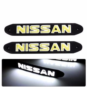 2Pcs COB LED DRL Daytime Running Lights for NISSAN DC 12V UltraBright & Waterproof LED Fog Lamps Car-styling Automobiles Light- intl
