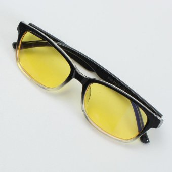 2PCS Computer Glasses TV Radiation UV Protection Eyeglasses Anti-fatigue Game Goggles Half Black - intl