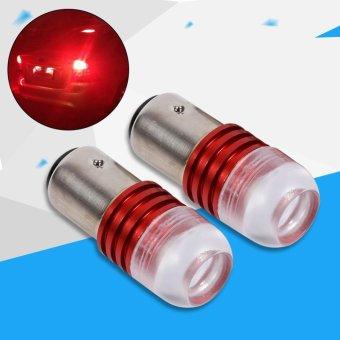 2Pcs Red 1157 2357 Strobe Flashing LED Projector Bulbs For Car Tail Brake Lights - intl - 5