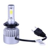 2pcs S2 Automobile LED Headlight Car Front Beam Bulbs(Silver)-H7 - intl