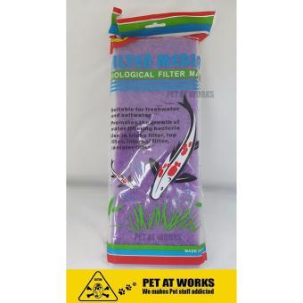 2Pcs Sea Quest Filter Media Biological Filter Mat (Purple) Small Size 12x2x32cm For Fish Tank Aquarium, Koi Pond, Salt Water Tank and Planted Tank